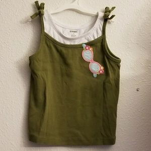 ⬇⬇ Gymboree Sunglasses Green Tank Top Girls 6
